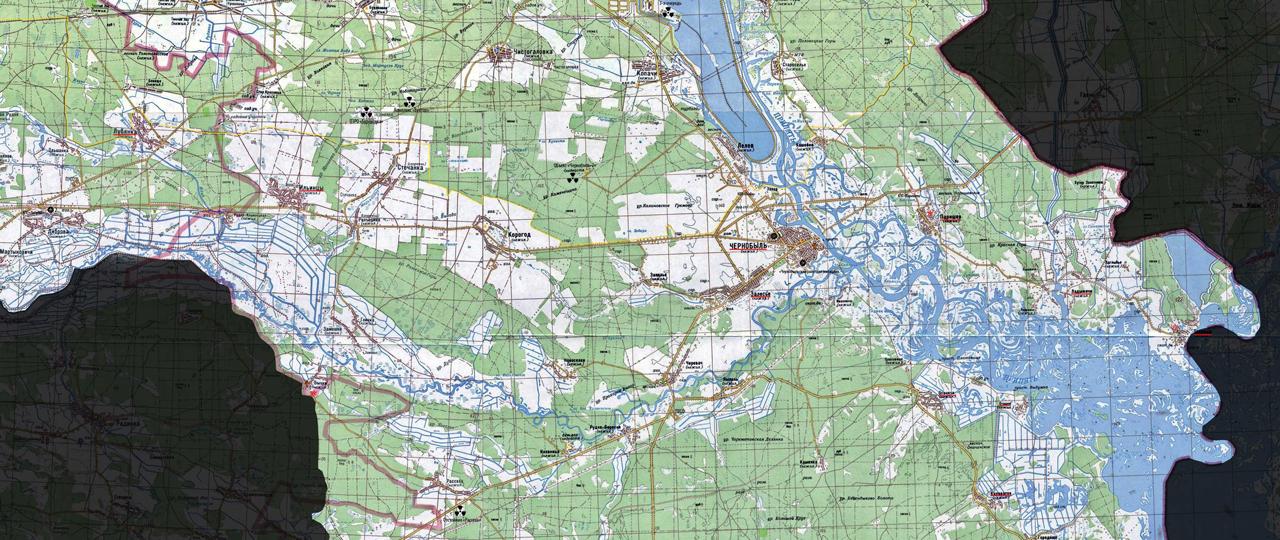 Černobylio zonos žemėlapis